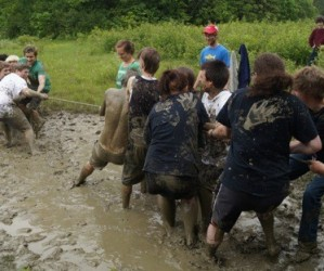 Getting Down and Dirty at Rock Point School